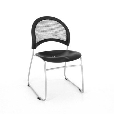 Chair Moon Stacking - Stars and Moon Armless Stacking Chair with Cushion [Set of 4] Seat Finish: None (Black Plastic)