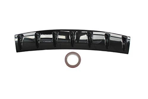 MOTOKU Universal Rear Bumper Lip Diffuser Spoiler 7 Shark Fin Style Gloss Black ABS 33
