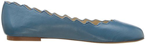 Sam Leather Women's Edelman Blue Pacific Francis Ballet Flat rPrc4H7