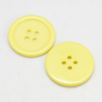 - PEPPERLONELY 30PC Yellow Flat Round 4 Holes Resin Buttons, 30x3mm(1-3/16x1/8 Inch)