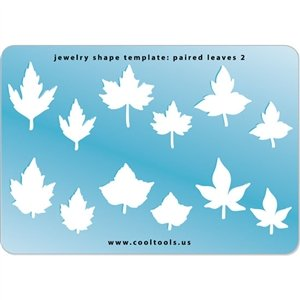 Leaves Templates Autumn - Cool Tools - Jewelry Shape Template - Paired Leaves 2