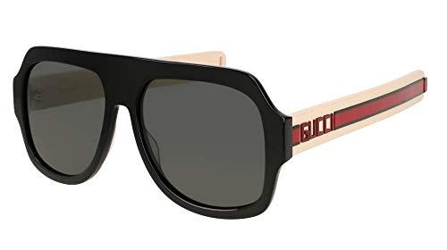 Gucci GG0255S Black One Size (Gucci Aviator-brillen)