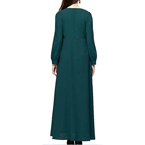 Highdas la mujer musulmana a personas del más nuevo del traje de señora Islámica de manga larga Verde