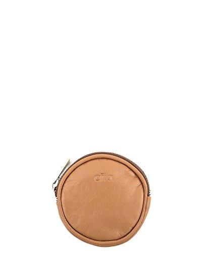 Aïta - Monedero redondo piel, medida diametro 9 cm, color ...