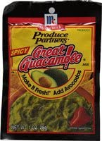 Produce Partners McCormick Great Guacamole! Mix Spicy - 1 oz