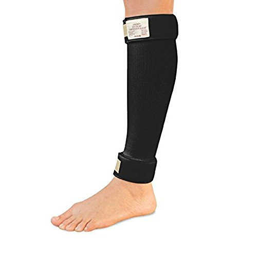 Cho-Pat Shin Splint - Compression Sleeve Delivers Support, Reduces Pain, and Enhances Recovery - Designed by Medical Professionals (Black, Large 16''-20'') by Cho-Pat
