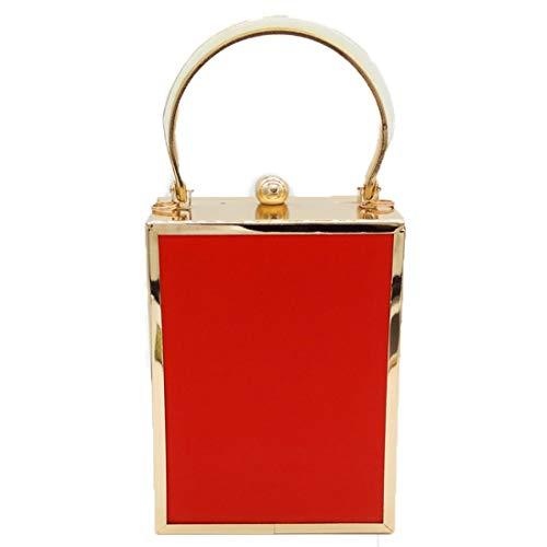 Vintage Monnaie Red Chaîne Mode KERVINZHANG Filles Femmes Bandoulière d'embrayage Party Soirée Porte Acrylique Lunettes Sac Color Red nBnZSvW8F