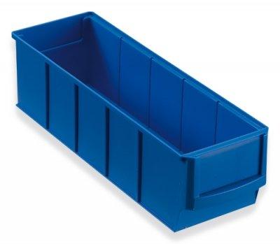 12 Industrieboxen Regalboxen Stapelboxen Lagerboxen blau 300x91x81 mm Müller & Sohn