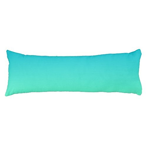 UTF4C Turquoise Ombre Body Pillow Covers 20 x 54 Decorative Body Pillow Cover Case for Bed,Home Decorative