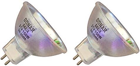 2pcs EKE/X 21V 150W Donar Long Life Bulb for ORALSCAN Lester Dynes Video Dental Concepts - Thermo Finnigan Nanospray Probe - Troja Research ULTRAEYE - Vision Engineering TS4 Stero Dynascope Lamp