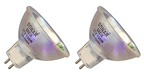 2pcs EKE/X 21V 150W Donar Long Life Bulb for MILLE LUCE Model M1000 Fiber Optic Illuminator - Olympus Highlight 3100 Ring Light Source - Solid State 150 Watt Illuminator - Wallach CH-101 Colposcope