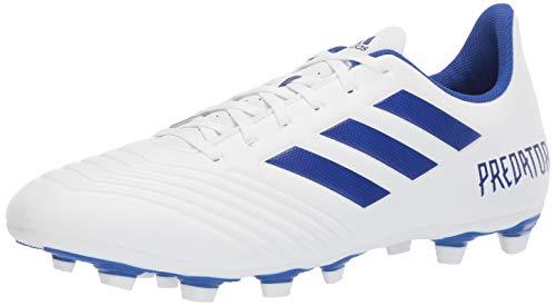 (adidas Men's Predator 19.4 Firm Ground Soccer Shoe, White Bold Blue, 10.5 M US )