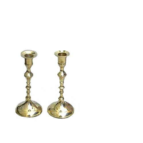 "Firefly Home Collection 2 Piece Candle Holders Set, 8"", Gold"