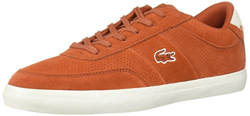 Lacoste Men's Court-Master Sneaker, red/Off White, 10 Medium US from Lacoste