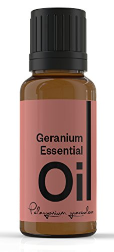 Cielune Geranium Essential Oil - 100% Pure, All Natural Premium Pelargonium X Asperum Oil - Therapeutic Grade for Alternative Medicine - Ideal for Skin Care, Hair Care, Aromatherapy & Massage - Natural Diuretic, Antibacterial & More - Satisfaction Guaranteed - 10ML