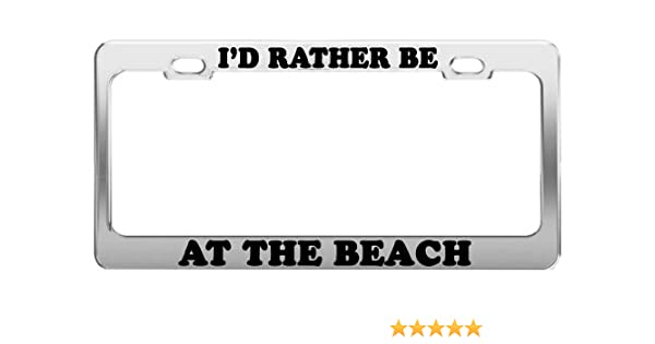 I/'d rather be off road 4x4 four wheel drive license plate frame holder tag