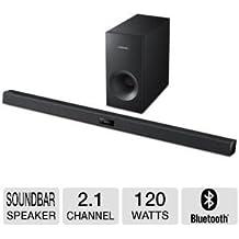 Samsung 2.1 Channel 120 Watts Home Theater Soundbar System with 60 Watt Subwoofer, Bluetooth, Soundshare, Smart On, Smart Volume, 6 DSP Settings, 3D Sound Plus, Crystal Sound Pro, USB Host, Black Finish