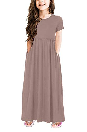 (storeofbaby Girls Cause Long Maxi Dress Ultra Soft Cotton Holiday Beach)