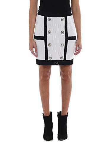 Poliéster Pf04667k199c5233 Falda Mujer Blanco Balmain negro 6IP5na