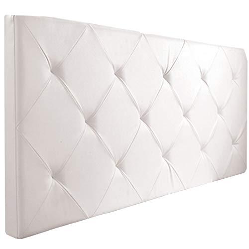Probache - Tête de lit capitonnée PVC Blanc 160x58 cm