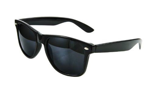 de brile propre Lunettes rétro sunglasses soleil UNISEX Noir 4d8A0qd