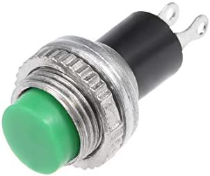 uxcell プッシュボタン スイッチ 20個入り 10mm瞬間2端子 プラスチックラウンド グリーン SPST NO