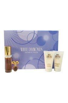 Elizabeth Taylor White Diamonds Women 4 Piece Set - White Moisturizing Body Diamonds Wash