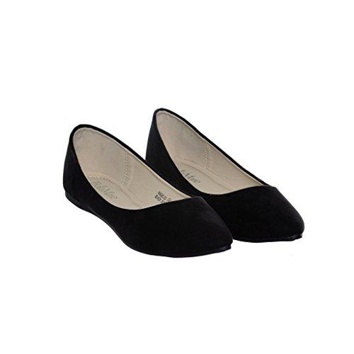 Womens Ballerina Flat Blacka53