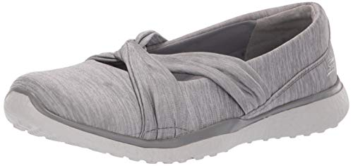 Para Merceditas knot Gry grey Concerned Gris Skechers Microburst Mujer RxAWnPw