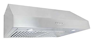 "Cosmo UC30 Stainless Steel Under Cabinet Range Hood, 30"""