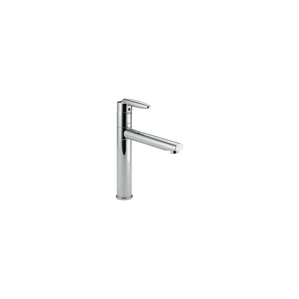 Delta Faucet 185 Grail Single Handle Kitchen Faucet, Chrome