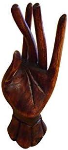 アジアン雑貨 バリ雑貨 手のリングホルダー <左手> リングホルダー アクセサリーフック 木製
