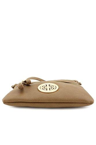 Pocket with Multi Wristlet Zipper Stone Bag Emblem Crossbody Small pwxqUg5xf