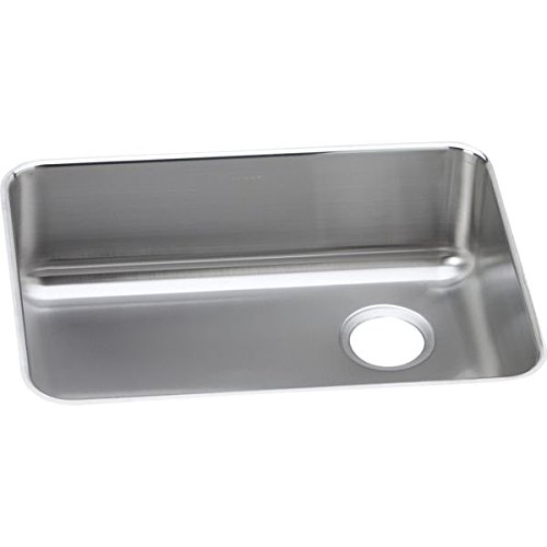 Elkay ELUH2317R Stainless Steel Right Drain Gourmet 18-3/4-Inch x 25-Inch Single Basin Undermount Stainless Steel Kitchen Sink