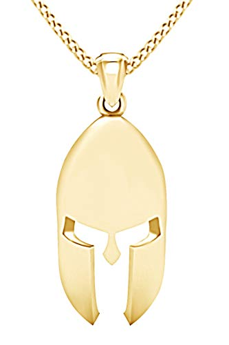 AFFY Knight Helmet Pendant Necklace 14k Yellow Gold Over Sterling Silver ()