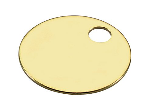 Brass Tags - Quality Polished Finish 1 inch Circle - Pk/25