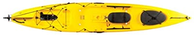 Ocean Kayak 13ft 10in Torque Classic Sit-On-Top Angler Kayak with Integrated Minn Kota Electric Motor, Yellow