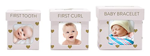 Tiny Ideas Keepsake Boxes, Perfect Nursery Décor and Keepsake Box Set, Pink Hearts by Tiny Ideas
