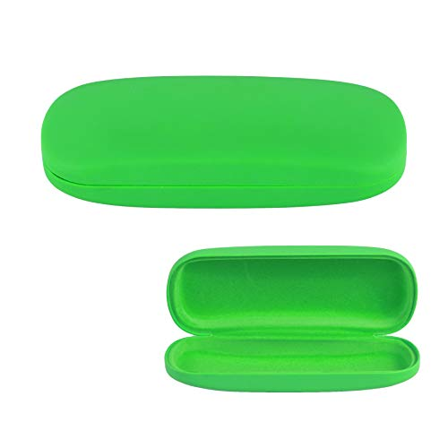 Hard Shell Eyeglass Case, Protective Case for Glasses and Sunglasses-(Green)