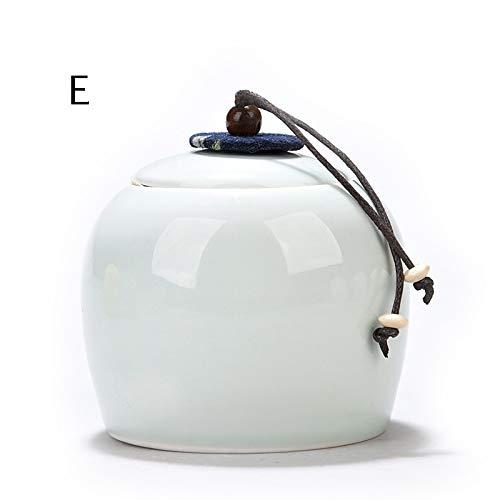 E Creative colorful Ceramic Sealed pet Ashes Urn (color   E)