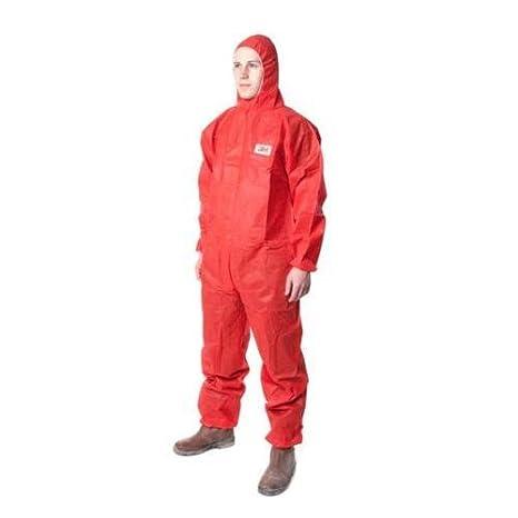 3M 4515 - Traje desechable tipo 5/6, talla grande, color rojo ...