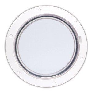 Beckson 6  Clear Center Pry-Out Deck Plate - bianca by Beckson Marine