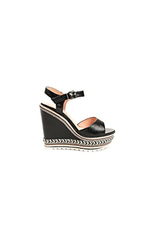 Braided Black Ikrush Womens Metallic Wedges Floriana qwRw14