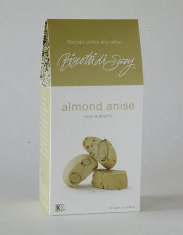 Case of Almond Anise Mini Biscotti - 7oz Box (6/case) (Biscotti Anise Seed)