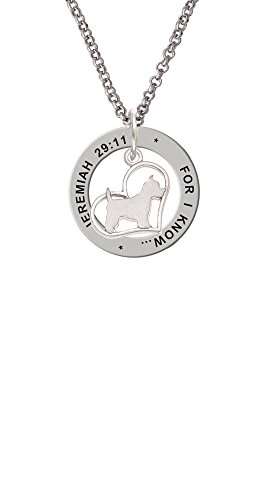 - Westie Silhouette Heart - Jeremiah 29:11 Affirmation Ring Necklace