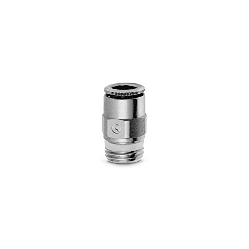 Camozzi S6510 8-3/8 Male Stud, Push In Fitting, 8 mm Tube, 3/8' Thread (Pack of 5) 3/8 Thread (Pack of 5)
