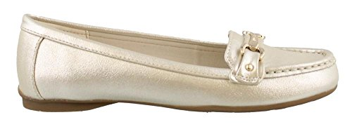 olleen Light Gold/Light Gold Synthetic Shoe (Anne Klein Loafers)