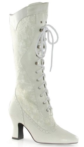 - Ellie Shoes Womens Zip Knee High Boots White Size 8
