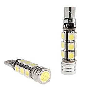 GDW CANBUS T10 1.5W 12x5050 SMD LED Bombilla Blanca para Coche Lectura / Side Marker / Dashboard Light (12V, 2-Pack)