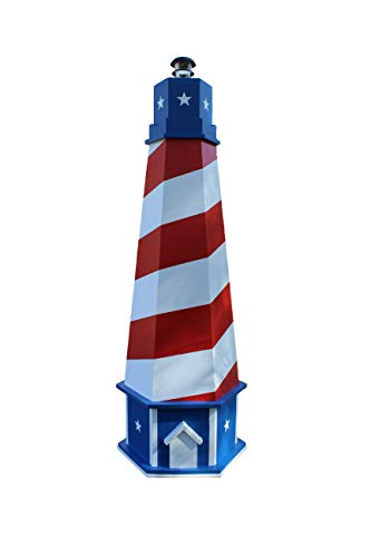 Chesapeakecrafts Lawn Lighthouse Plans. 7 ft. Lawn Lighthouse has American Patriotic Theme. Woodworking Plans to Build a Wooden Lighthouse. Illustrated Guide Includes Photos at Every Step.